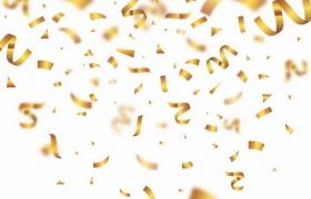 飘落的金色纸片纸屑装饰png图片免抠矢量素材