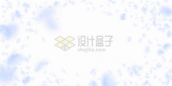 飞扬的淡紫色花瓣装饰png图片免抠矢量素材