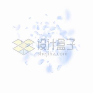 飘落的淡紫色花瓣装饰png图片免抠矢量素材