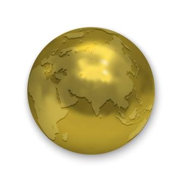 金色的地球东半球免扣图片素材