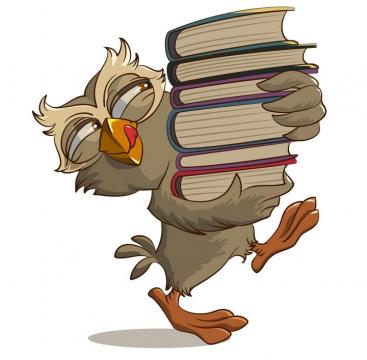捧着书本的猫头鹰魔法师道具图片免抠矢量素材