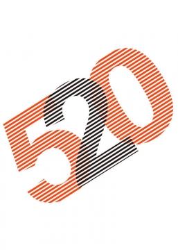 创意简约条纹520表白日艺术字体图片免扣素材