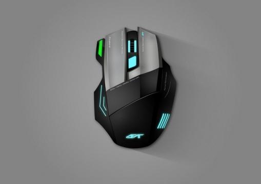 一款人体工学的无线蓝牙游戏鼠标图片免抠矢量图素材