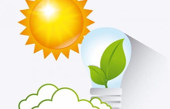 太阳能发电绿色能源图片免抠素材