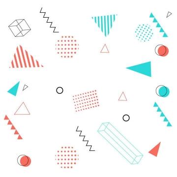 孟菲斯风格几何图形装饰素材