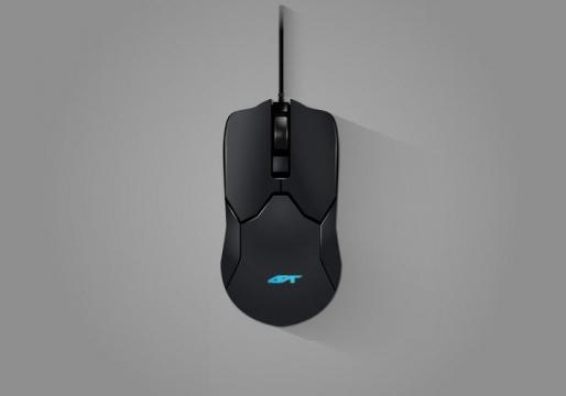 一款有线游戏鼠标俯视图图片免抠矢量图素材