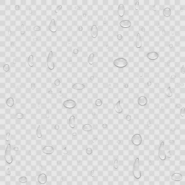各种形状的小水珠水滴半透明液体效果图片免抠矢量素材