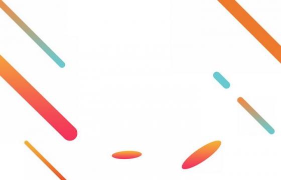彩色几何形状线条装饰图片免抠素材