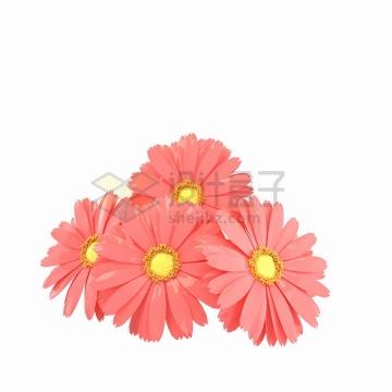 美丽的红色雏菊花朵鲜花png图片免抠素材