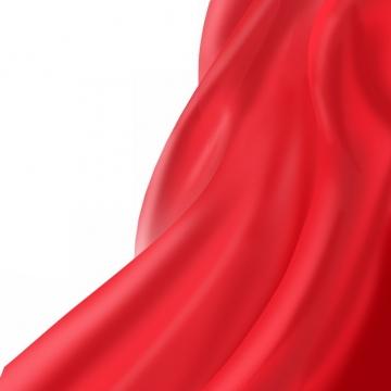 飘扬的红色绸缎面丝绸红旗装饰7235687png图片素材