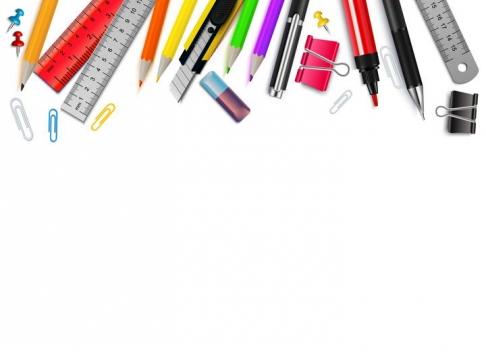 画笔美工刀直尺等设计师做图用品装饰图片免抠素材