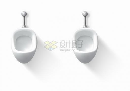 逼真的男厕所小便池卫生间设施png图片素材