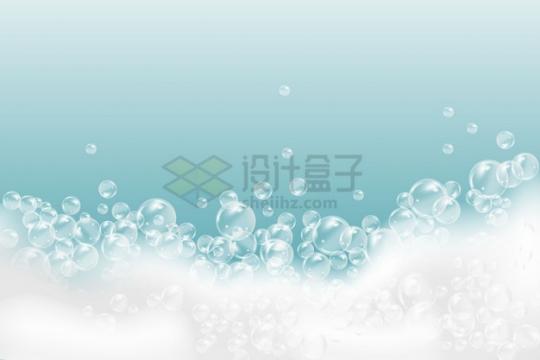 白色泡泡肥皂泡效果png图片素材