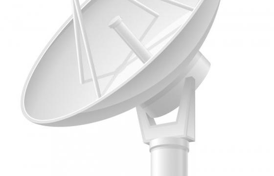 银白色的卫星接收站免扣图片素材