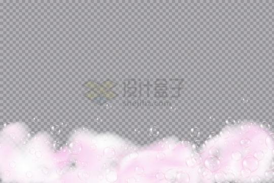 粉红色泡泡肥皂泡效果png图片素材
