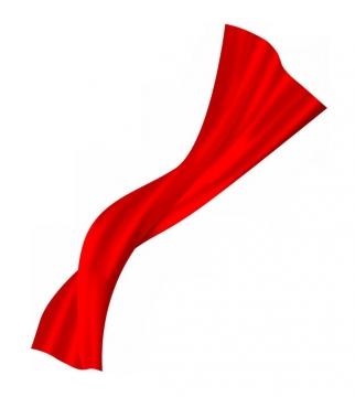 飘扬的红色绸缎面丝绸红旗装饰908873png图片素材