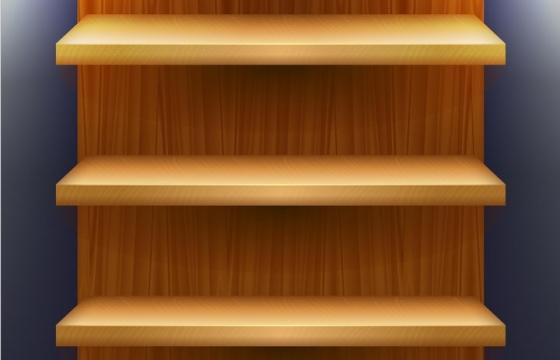 木板书架货架展示图片免抠矢量素材