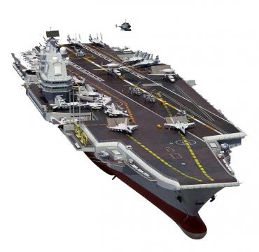中国海军辽宁号航空母舰前视图图片免抠素材
