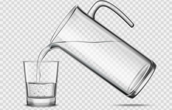 正在给玻璃杯倒水图片免抠素材