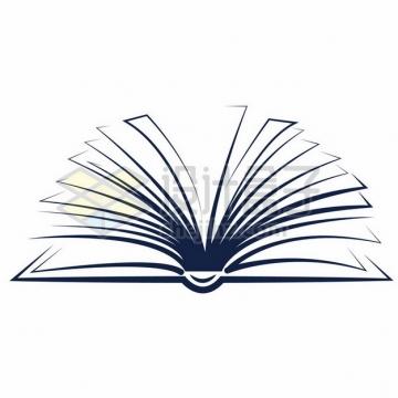 创意简约线条组成翻开的书本872112png图片素材