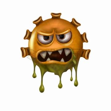 邪恶的卡通新型冠状病毒png图片免抠矢量素材