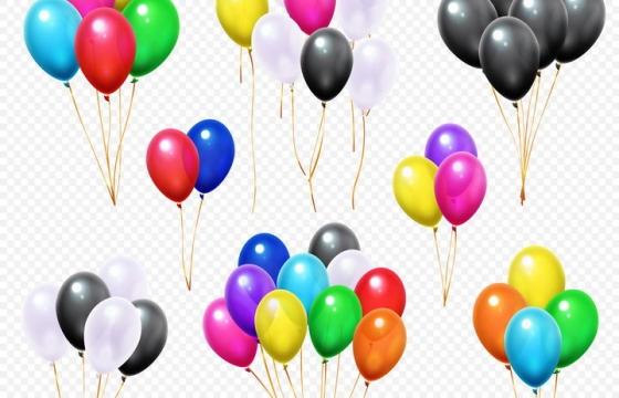 8款漂浮着的彩色气球图片免抠矢量素材