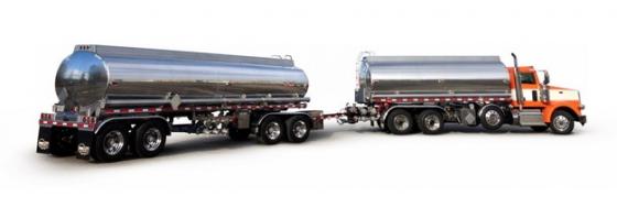 两节挂车的大型槽罐车油罐车危险品运输卡车特种运输车472094png图片素材