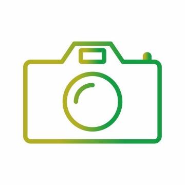 渐变色风格线条相机图标png图片免抠ai矢量素材