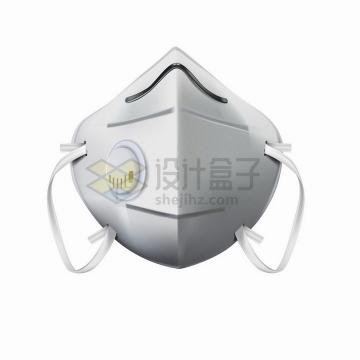 逼真的N95口罩工业安全医疗防护面罩正面图png图片免抠矢量素材