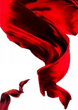 飘扬的大红色绸缎面丝绸红旗装饰4120987png图片素材