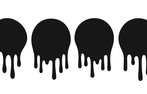 黑色流淌下来的液滴效果图片免抠矢量素材