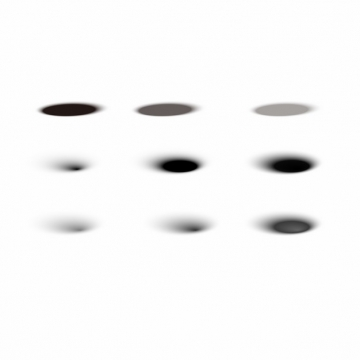 9款椭圆形阴影279949AI矢量图片素材