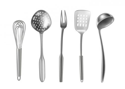 打蛋器漏勺汤勺等厨房用品图片免抠矢量素材