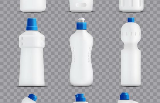9款洗涤剂清洁剂白色包装品图片免抠素材