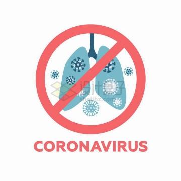 新型冠状病毒肺炎禁止标志png图片免抠矢量素材