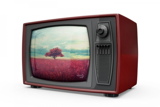 高清复古CRT电视机图片免抠素材「PSD+PNG」