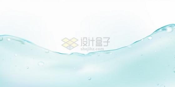 淡蓝色的水面液面效果冒着水泡水花png图片素材