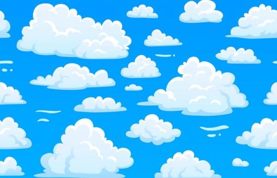 卡通漫画风格白云云朵云彩图片免抠矢量素材