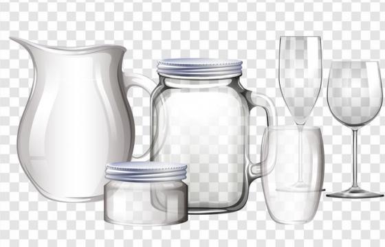 各种玻璃杯玻璃瓶酒杯图片免抠素材
