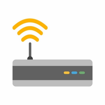 扁平化风格路由器正在发射wifi信号png图片免抠ai矢量素材