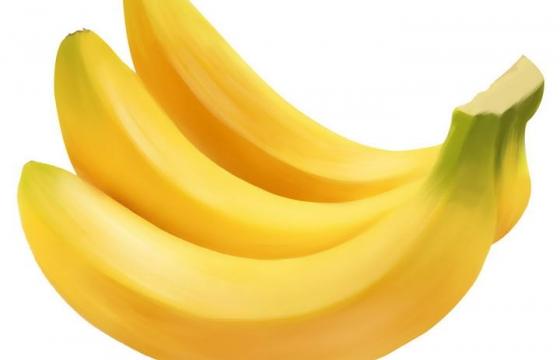 唯美手绘风格香蕉水果美食图片免抠素材