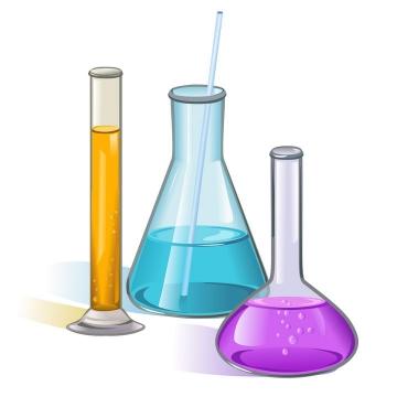 彩色试管烧瓶化学实验用品免扣图片素材