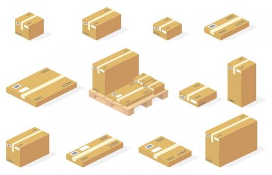 2.5D风格包装箱物流货运图片免扣素材