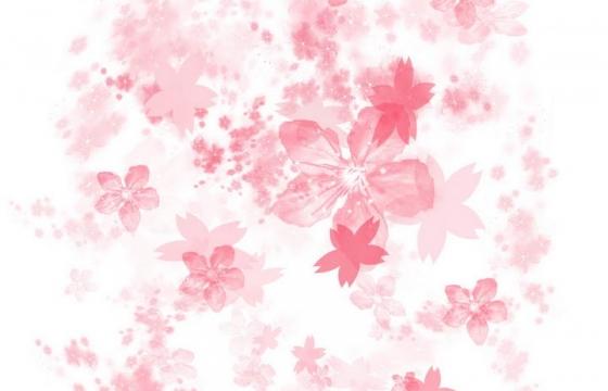 水彩画风格的唯美粉色花瓣图片免抠装饰素材