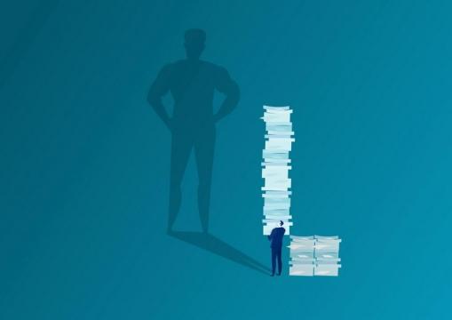 扁平化风格抽象商务人士职场办公配图免抠图片素材