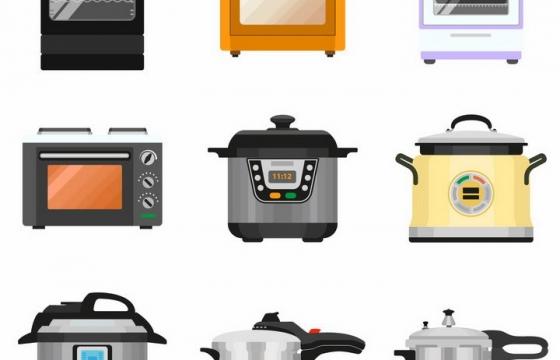集成灶洗碗机微波炉电饭锅高压锅等厨房用品png图片免抠矢量素材