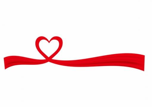 飘扬的红色绸缎面丝绸丝带组成心形图案1645904png图片素材