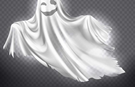 万圣节白色鬼影图片免扣素材