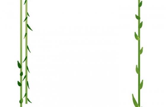 绿色藤蔓组成的边框图片免抠素材