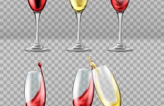 透明高脚杯酒杯中的红酒图片免抠素材